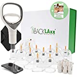 BACKLAxx® Schröpfset mit Vakuumpumpe - 12 Schröpfgläser aus...