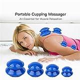Silikon Schröpfen,4 Set Anti Cellulite Massage Cup Kit, Vakuum...